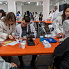 WesternU College of Optometry students, faculty and staff took part in a free mega-clinic, Care Harbor LA Friday, Nov. 15, 2019. Students and faculty from other colleges plan to participate over the weekend. <br /> (Jeff Malet, WesternU)