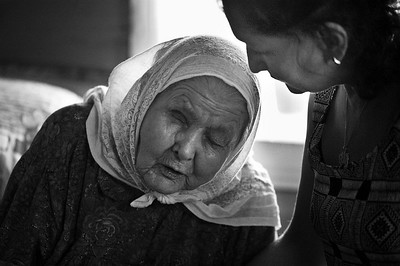 "Reunion with a 90 year old blind friend. Five years later: see ""The Tatars""gallery"