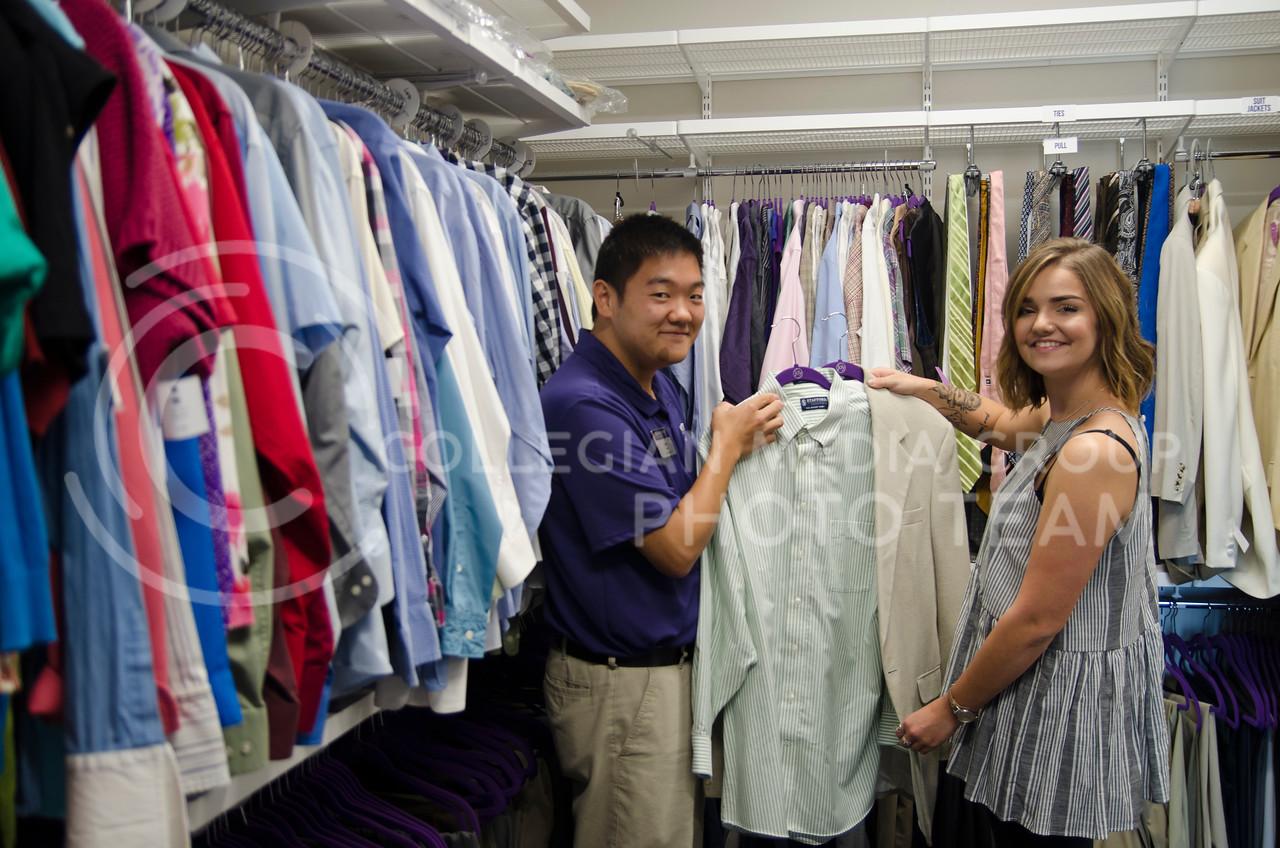 Career Closet program at Kansas State University provides professional attire for students free of charge. (Saya Kakim|Collegian Media Group)