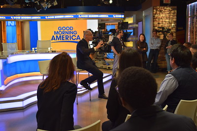 ABC News President James Goldston speaks with students
