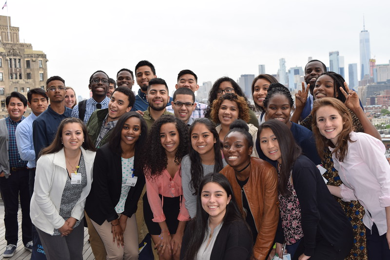 Students on the top of Google headquarters