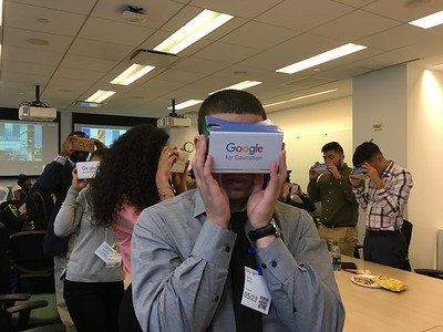 Seth Ortiz and others testing out Google's virtural reality product