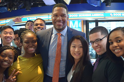 Michael Strahan with his new fans
