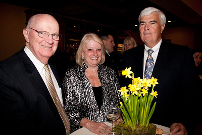 Tom Faulkner, Carole & Richard Sheehan. 2013 Merrimack Valley Hospice Legacy of Leading Gala, Andover Country Club. Photo by Meghan Moore for Merrimack Valley Magazine.