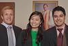 2012 Carey Business Honors Graduates Corbin Allen, Michelle Qian, and Samarth Chaddha.