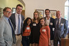 From left: Terry Papillon, Dean of the College of the College; new Carey Fellows Ryan Dix, Kylee Richard, Gracie Evans, Libbie Dawe, Matthew Holcomb; David Shipps, Director of the Babson Center.
