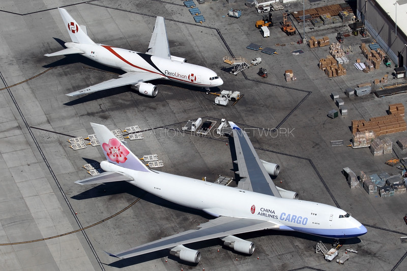B-18716 | XA-LRC | Boeing 747-409F/SCD | Boeing 767-241/ER (BDSF) | China Airlines Cargo | AeroUnion