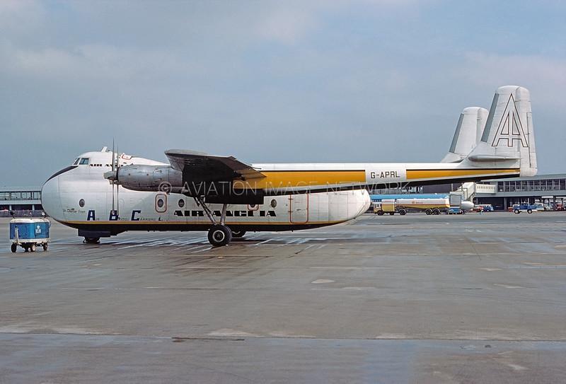 G-APRL | Armstrong Whitworth 650 Argosy | Air Anglia (Air Bridge Carriers Ltd)