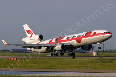 MD-11-C 00011 A Martinair Cargo McDonnell Douglas MD-11 seen landing, airplane picture, by Tim Perkins