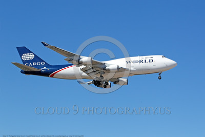 Boeing 747-World Cargo 0002 A landing Boeing 747 WORLD CARGO N742WA 10-2016 airliner picture by Michael Grove, Sr     DONEwt