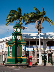 "St Kitts - Basseterre Back in town after our beach break, we stop to photograph ""The Circus,"" a roundabout modeled after London's Piccadilly Circus."