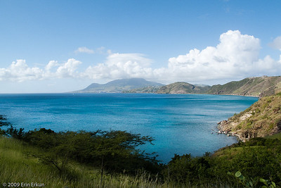 St Kitts - SE Peninsula On the way back from Cockleshell Bay, Austin (our cabbie) stops at an overlook so we can enjoy the island scenery.
