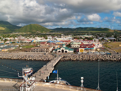St Kitts - Basseterre Mercury ties up at the cruise ship terminal conveniently located downtown.