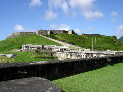 Brimstone Hill Fortress - a UNESCO World Heritage Site on St Kitts.