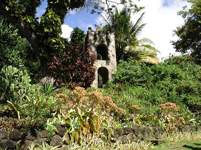 The old bell tower on the grounds of Caribelle Batik.