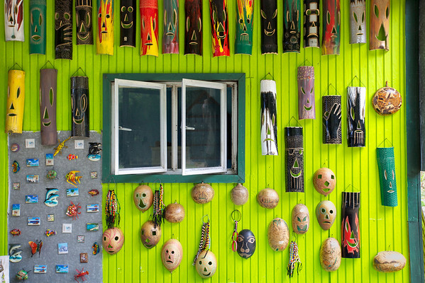 Crafts for sale at Englishman's bay, Tobago