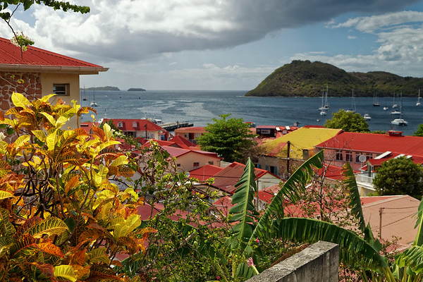 Red roofs of  Terre-de-Haut, Illes Des Saintes, Guadeloupe