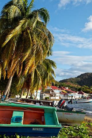 Fishing boats in Terre-de-Haut, Illes Des Saintes, Guadeloupe