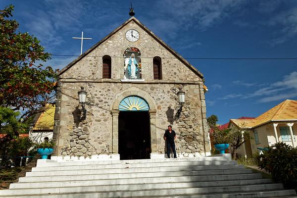 Catholic church, Terre-de-Haut, Illes Des Saintes, Guadeloupe