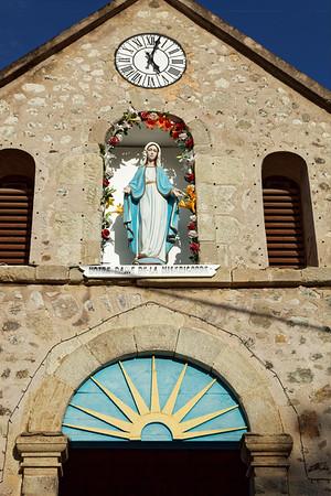 Detail of church, Terre-de-Haut, Illes Des Saintes, Guadeloupe