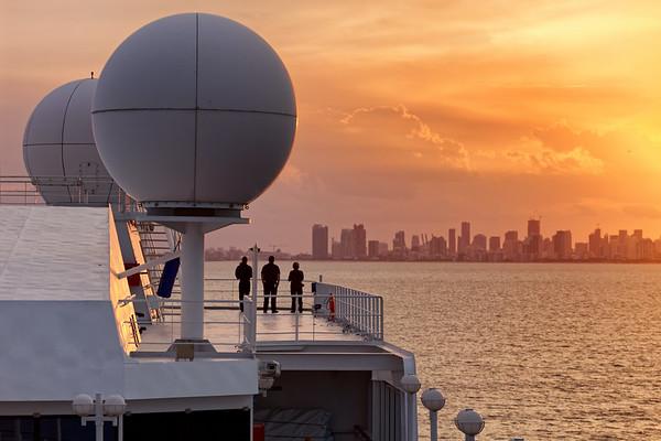 Azamara crew watch the sunset