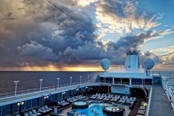 Weather system over the Azamara Quest, Atlantic Ocean