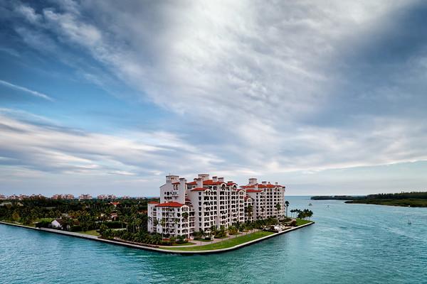 Apartment development near Miami Beach