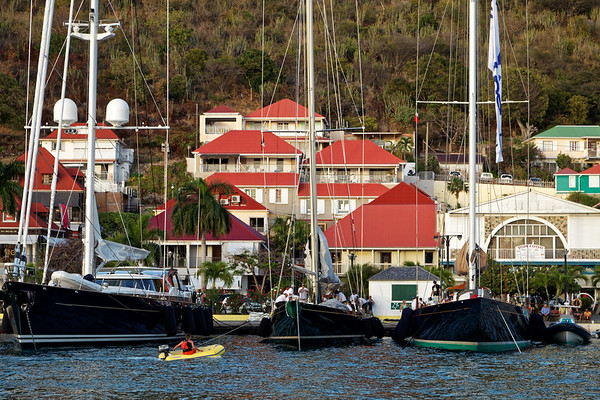 Super yachts gathered for the St Barths Bucket Regatta in Gustavia,  Saint Barthélemy