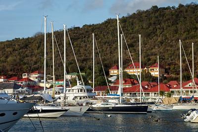 Super yachts gathered for the St Barths Bucket Regatta in Gustavia,  Saint Barthélemy