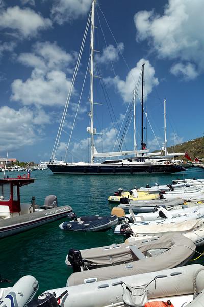Super yacht at Saint Barthélemy