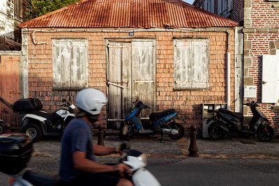 Scooters, the common way of getting around, Gustavia, Saint Barthélemy