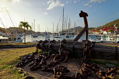 Anchor in Gustavia Bay, Saint Barthélemy