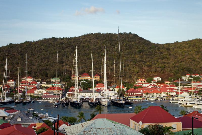 Super yachts in Gustavia,  Saint Barthélemy