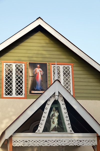 Detail of Our Lady of Mount Carmel Catholic church, Blanchissuese