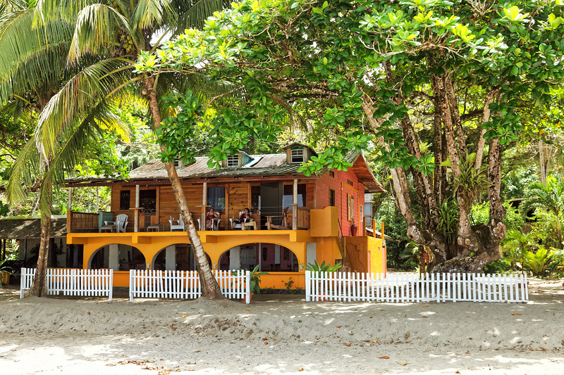 Mt Plaisir Hotel on the beach at Grande Riviere