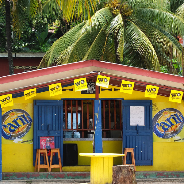 A beer is a Carib!