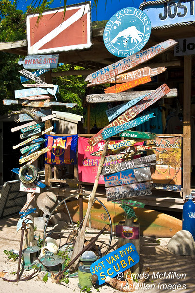 Tourism supports Jost Van Dyke Scuba since the island has only 200 inhabitants.