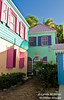 Iconically colorful buildings, Tortola, BVI