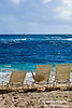The Atlantic Ocean from St. Maraten (the Dutch side = Netherlands Antilles), is the easternmost Caribbean Island.