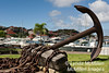 Ship's anchor in Gustavia Park, St. Bart's, FWI