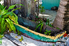Vintage canoe used for native's transportation between islands.