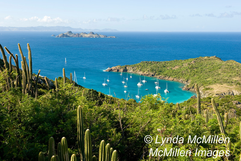 La Petite Anse from Colombier view point.