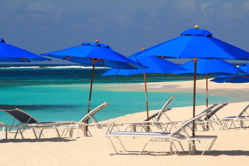 Blue Beach Umbrellas