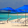 Blue Beach Umbrellas