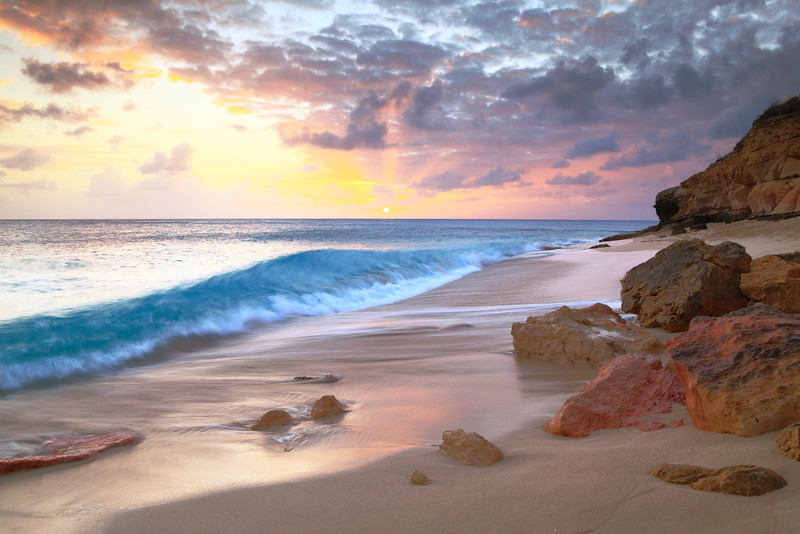 Cupecoy Beach Sunset, Saint Maarten