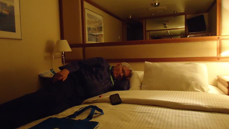 John resting before we sail