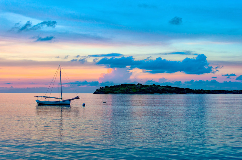 Caribbean evening color