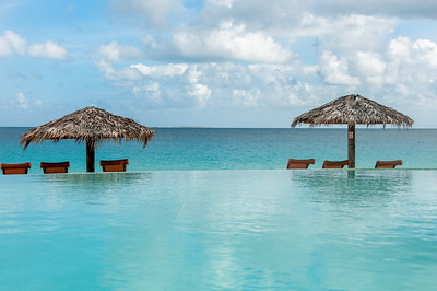 Infinity pool and seascape in the island of Anguilla