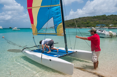 Sailing in the island of Anguilla