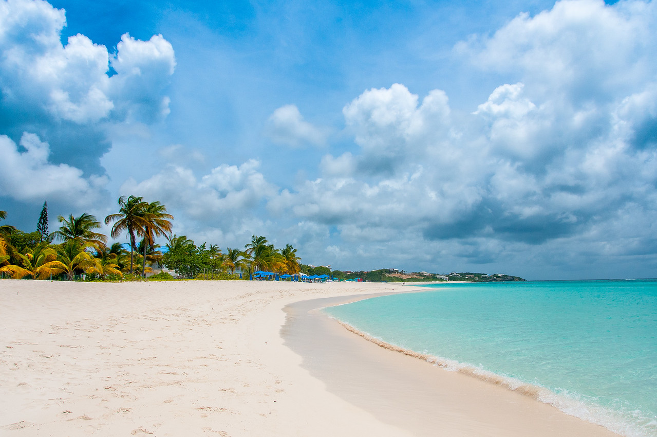 White sand beach in the island of Anguilla